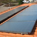Solaranlage auf Ziegeldach